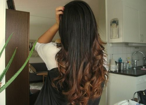 ombre hair tumblr brown to light brown - Google Search | Hair ...