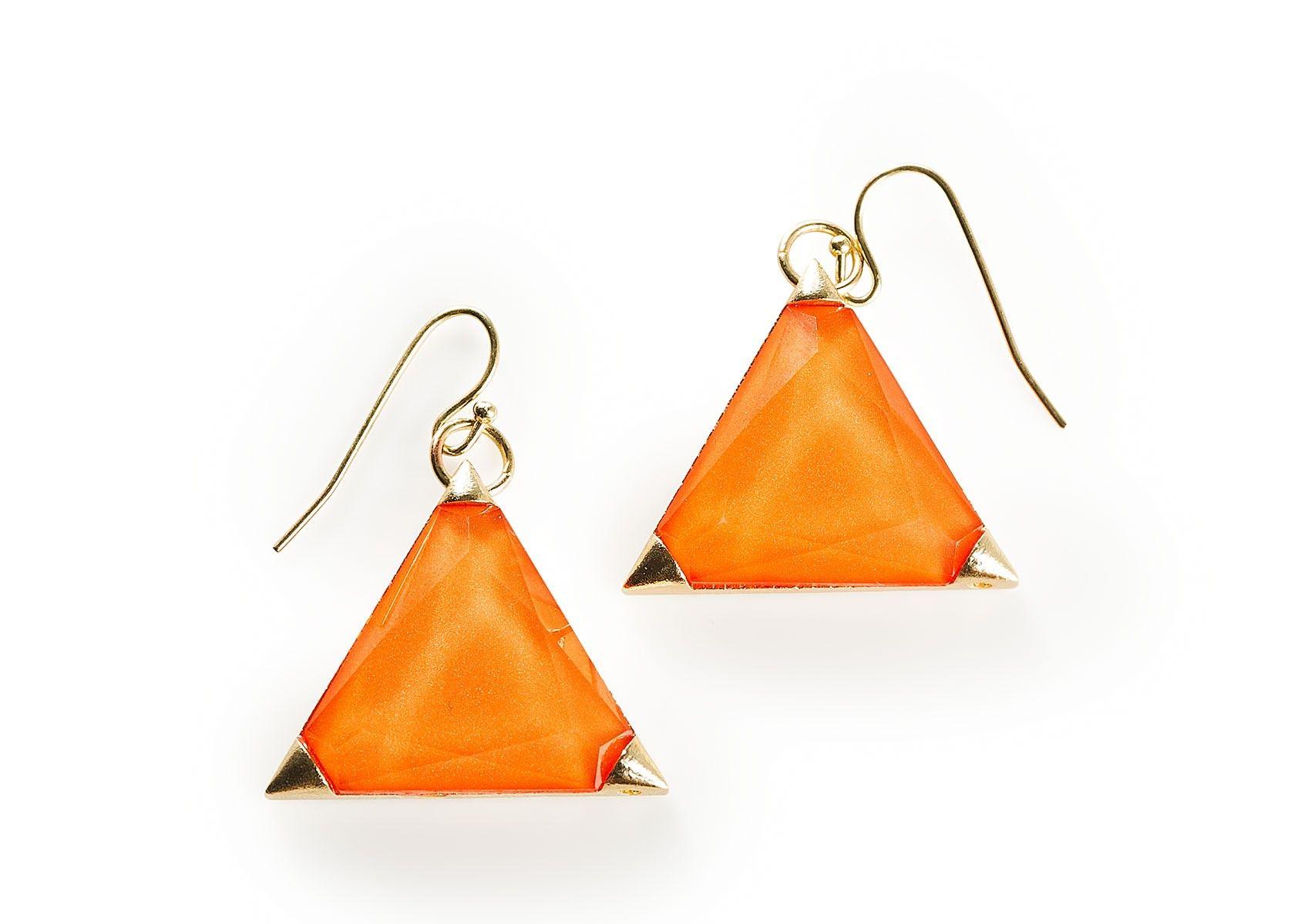 Oranssit korvakorut - Cailap #earrings #hair #beauty