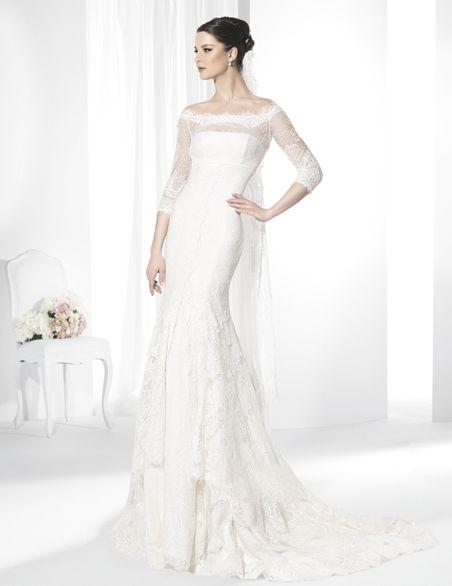 vestidos de novia línea sirena de corte imperio confeccionado en