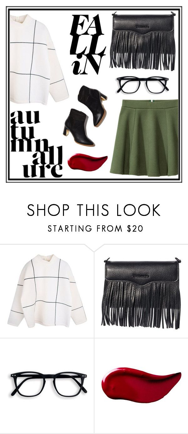 """""""Trendy: Sweater Weather"""" by sikes-rachel ❤ liked on Polyvore featuring Rupert Sanderson, Rebecca Minkoff, Kat Von D and H&M"""