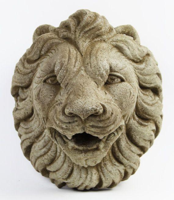 Good Italian Lion Head Concrete Wall Plaque Cement Vatican Lion
