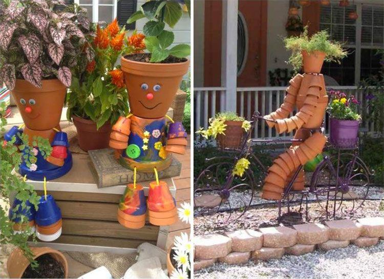Decorazioni da giardino con vasi di terracotta terra cotta art garden planters flower pots - Vasi terracotta da giardino ...