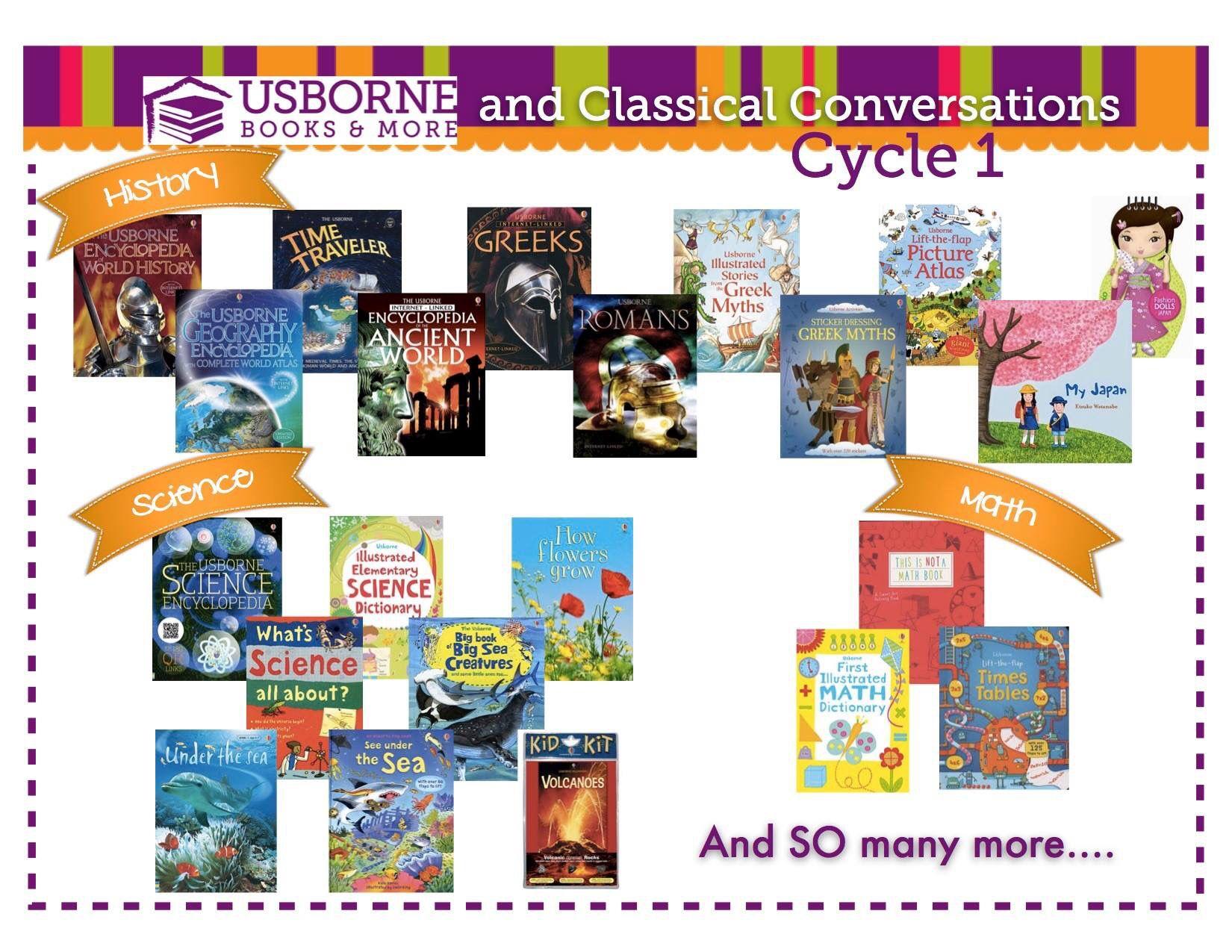 Classical Conversations Usborne books match ups. Usborne