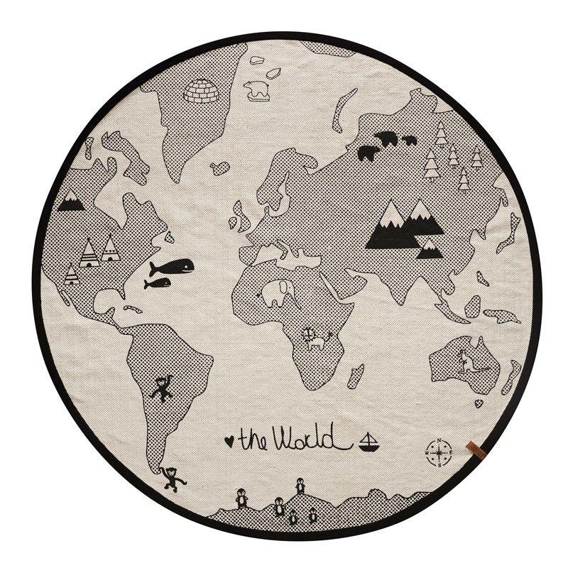 Kinderteppich Und Spielteppich Rund The World Durchmesser 135