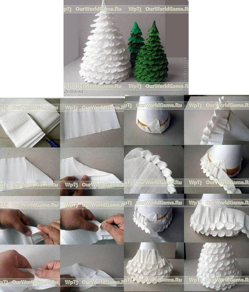 Arbol De Papel Crepe Navidad Pinterest Christmas Crafts