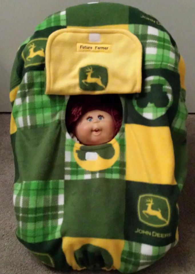 0956682d290 I Was Born A Country Baby! Cozy Hand Made Custom Embroidery Green John  Deere Tractor
