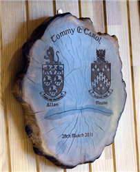 Shop Irish Bog Wood Plaque With Family Crest Online Custom Engraved Gifts Wood Gifts Crest Gift