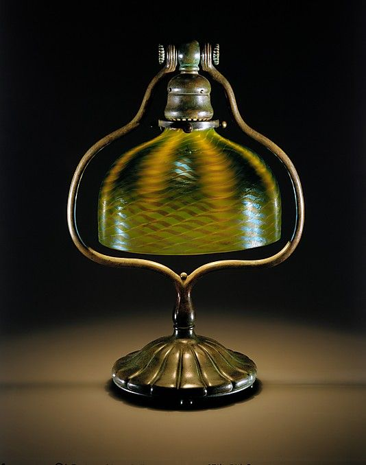 Look At The Detail On This Glass Louis Comfort Tiffany Electric Lamp 1902 1912 Glass And Bronze Lamp Electric Lamp Art Lamp