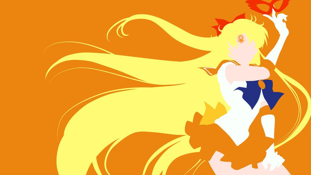 Sailor Venus From Sailor Moon Crystal Minimalist Sailor Moon Character Sailor Moon Crystal Sailor Moon Fan Art