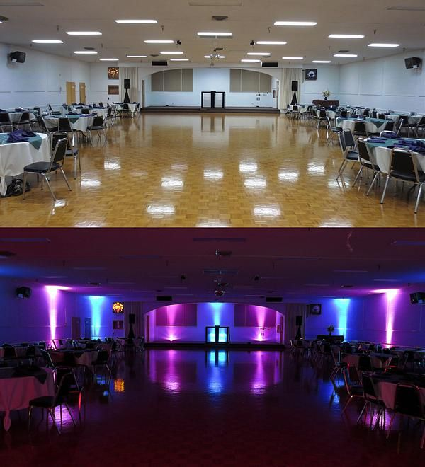 Wireless Uplighting (before/after) By The Wedding DJ