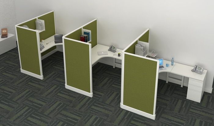 6 X 6 Off The Wall Cubicle With 53 High Panels Shelf And