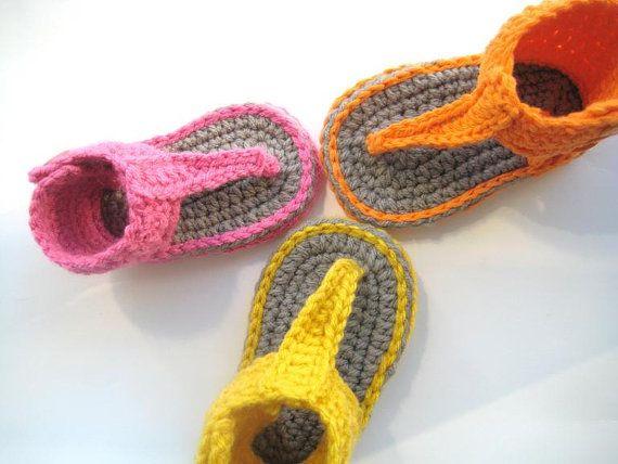 TRICO y CROCHET-madona-mía: Sandalias a crochet-modelos niñas ...