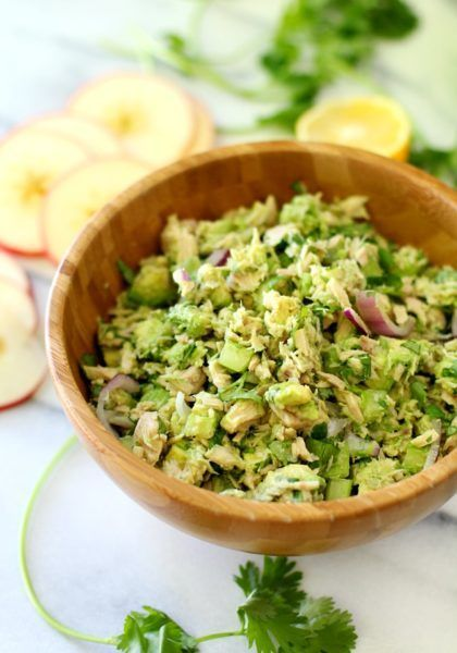 Easy Avocado Tuna Salad - Kim's Cravings #tunaavocadorecipes