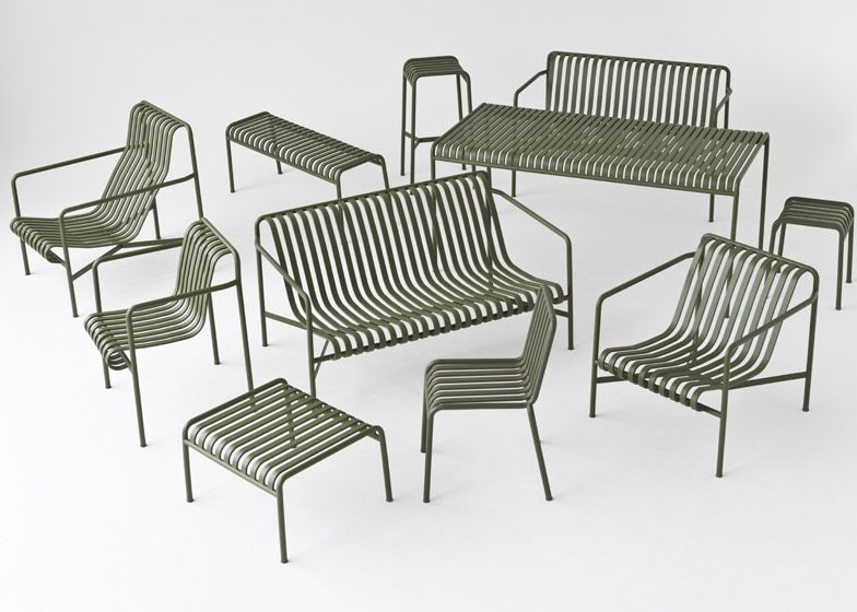 Bouroullecs design Palissade striped outdoor furniture for Hay - Bouroullecs Design Palissade Striped Outdoor Furniture For Hay