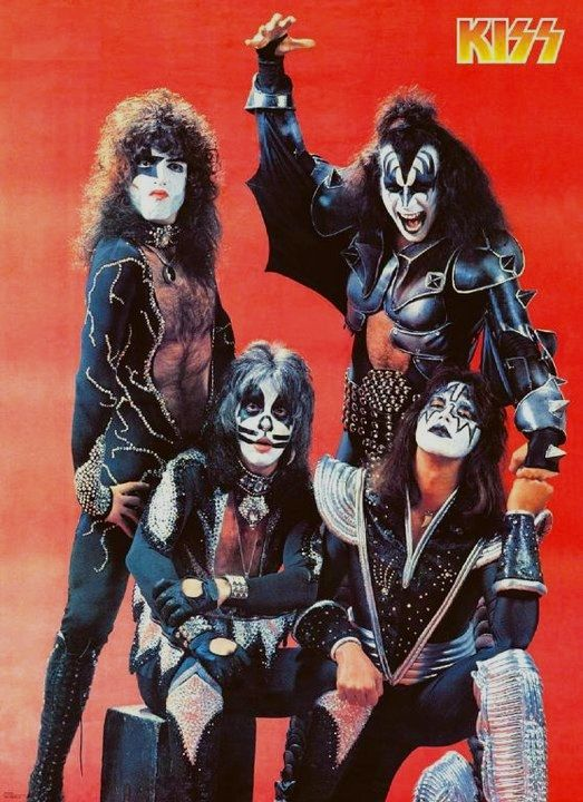 Kiss Rock Band Suit Gene Simmons Paul Stanley Rock /& Roll Poster 23X36 NEW  SUIT