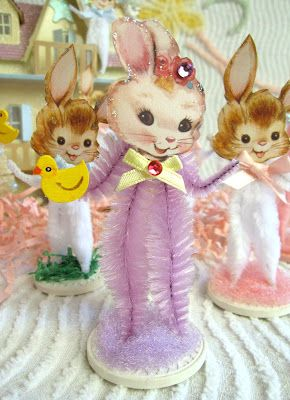 chenille pipe easter bunnies