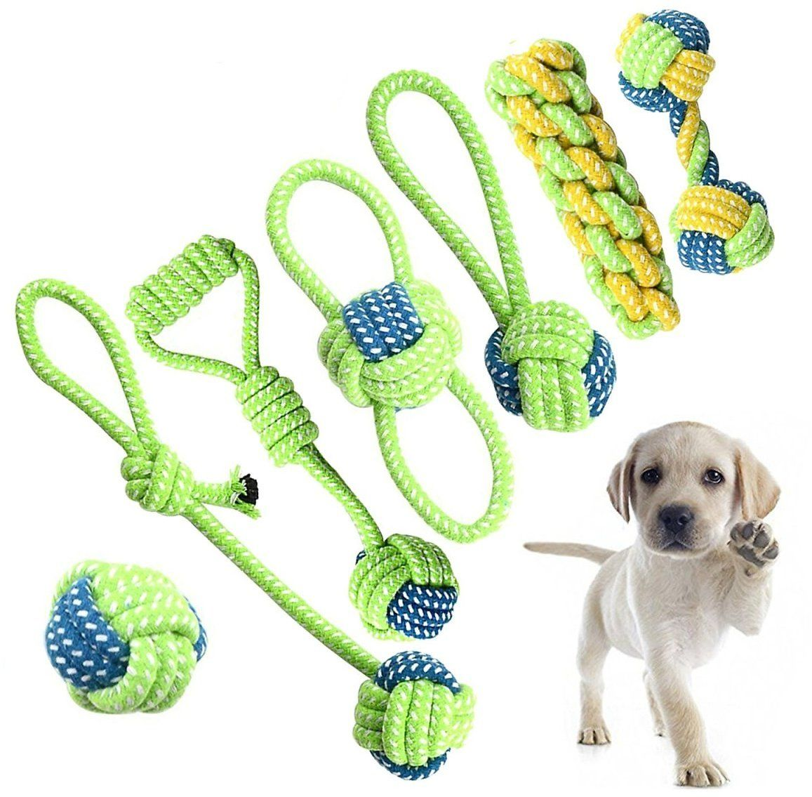 Amazon Offers Petony Dog Toys Set Interactive Chewing Rope Ball
