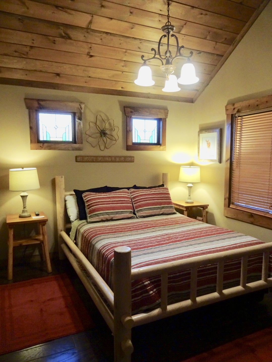 Master bedroom images  Master Bedroom with Rustic Log Queen Size Bed and private bath