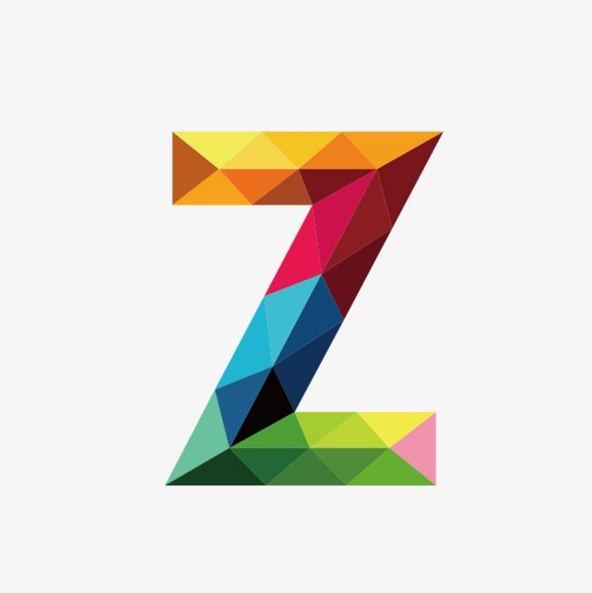 Colorful Letters Z Colorful Letter Z Png Transparent Clipart Image And Psd File For Free Download Letter Z Monogram Alphabet Polygon Art