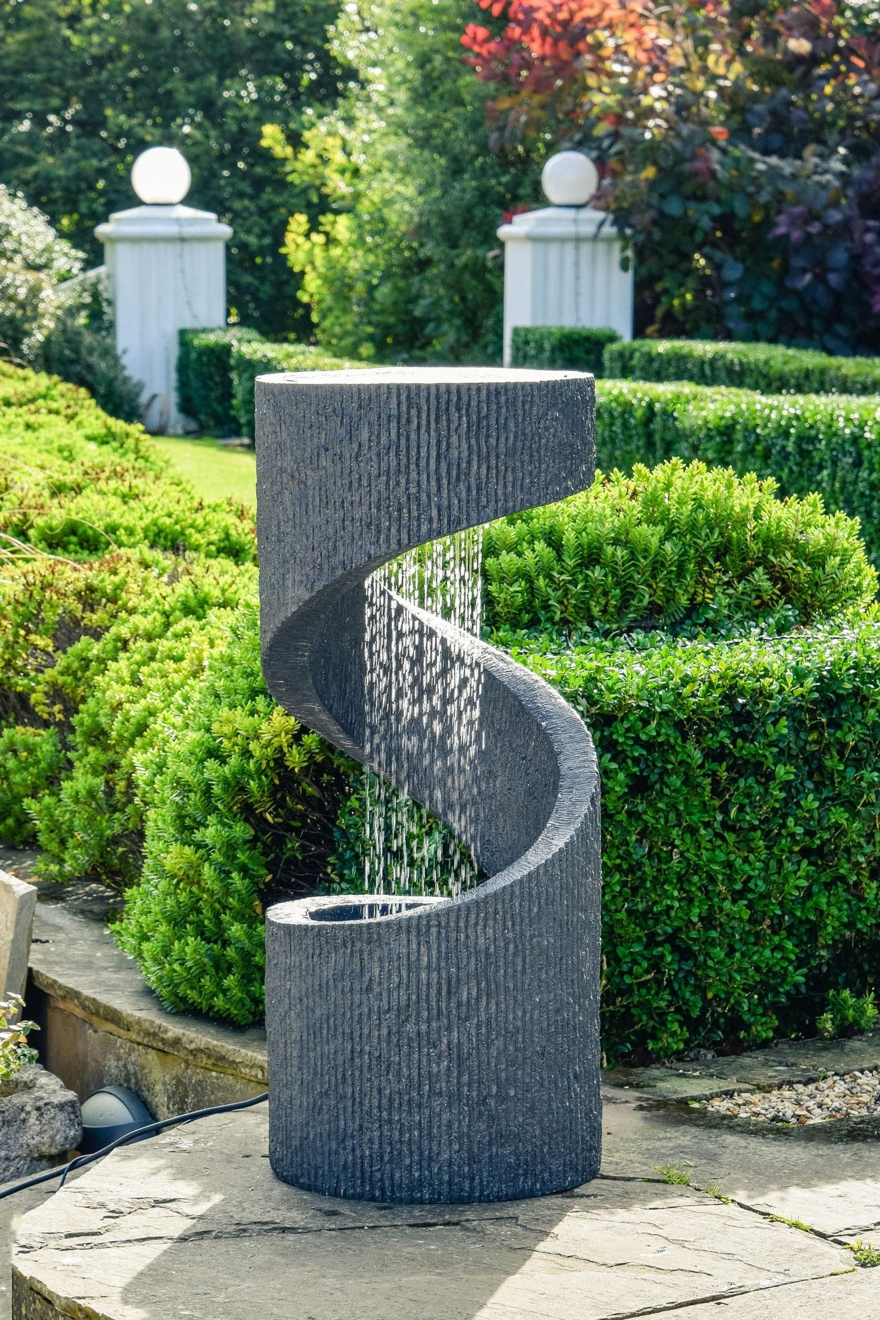 Buy Outdoor Spiral Water Feature By Ivyline From The Next Uk Online Shop Water Fountains Outdoor Water Features In The Garden Garden Water Feature Outdoor contemporary water feature by ivyline