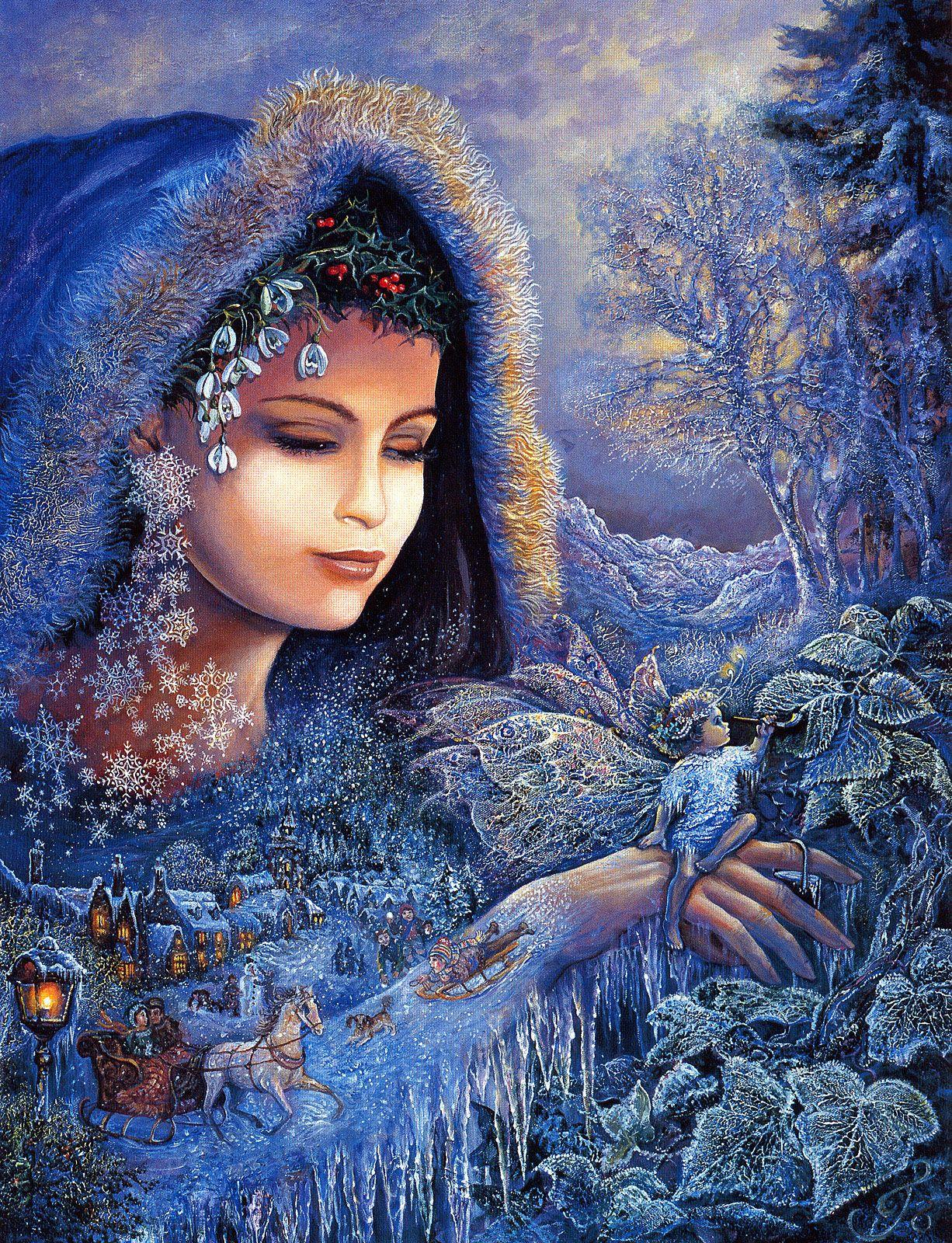 Josephine Wall - Spirit Of Winter