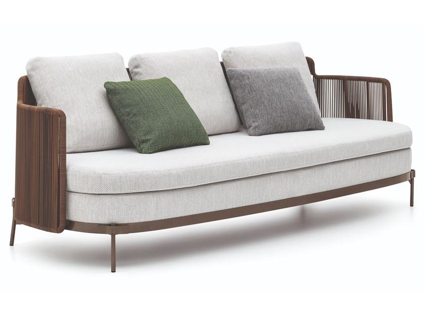 Tape Cord Outdoor 3 Seater Garden Sofa By Minotti Design Nendo Outdoor Sofa Furniture Garden Sofa