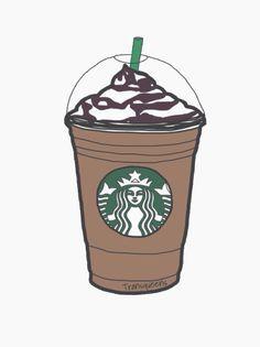Frapuccino Tumblr Starbucks Drawing Starbucks Art Starbucks