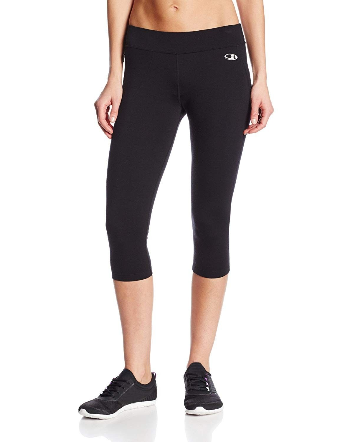 Rush Women's 3/4 Running Tight - SS17 - Black - CK11EIH5Y59 - Sports & Fitness Clothing, Women, Pant...
