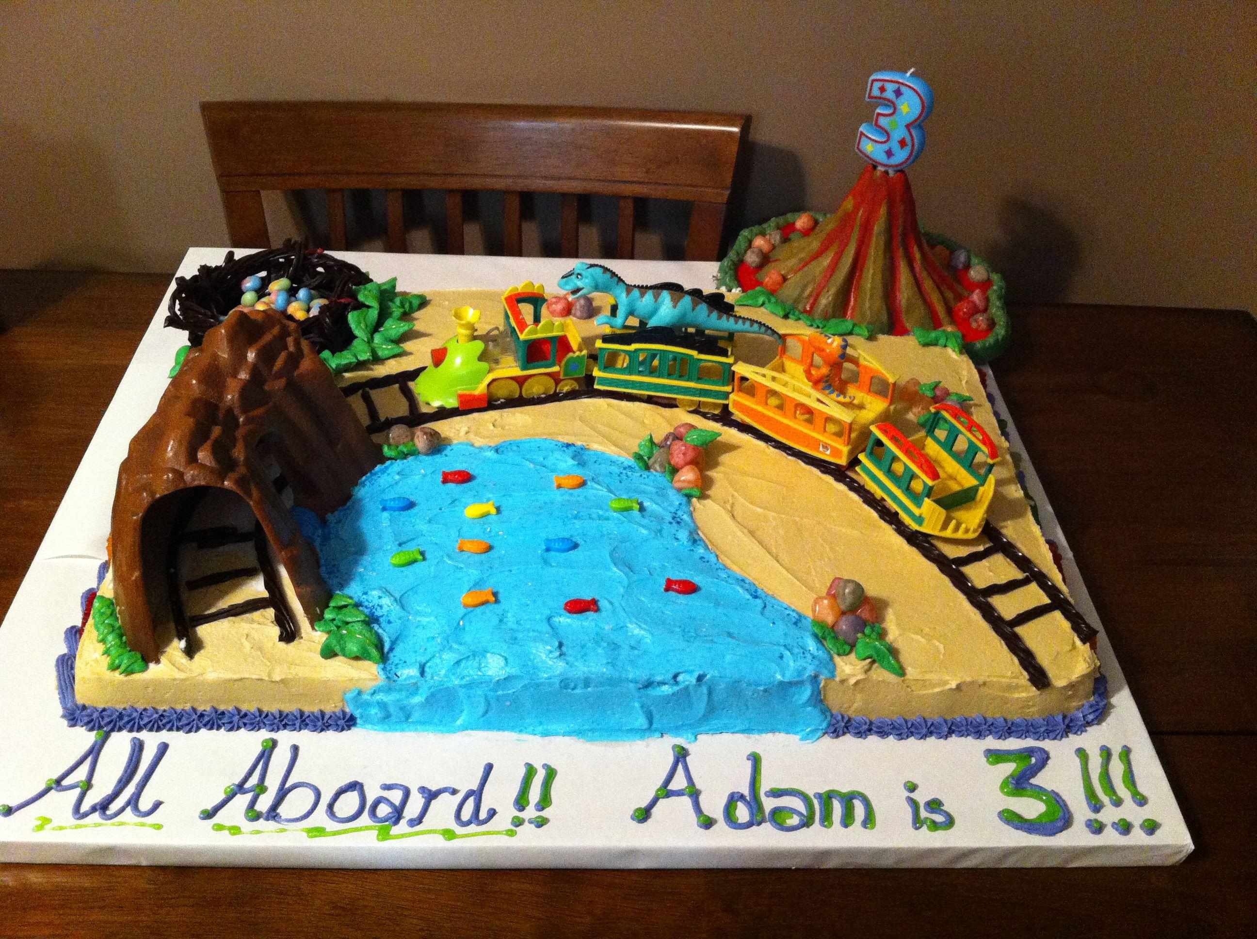 Swell Dinosaur Train Birthday Cake Trains Birthday Party Dinosaur Personalised Birthday Cards Veneteletsinfo