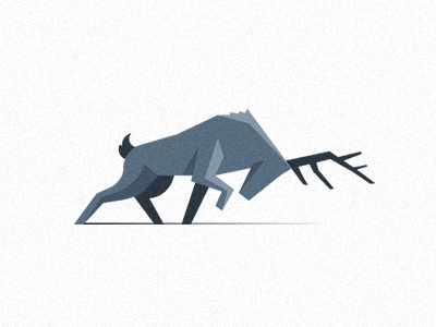 a deer is quite popular animal here on dribbble - so I decided to give it a try. Also playing with new style.. so here it is - geometry based deer icon.