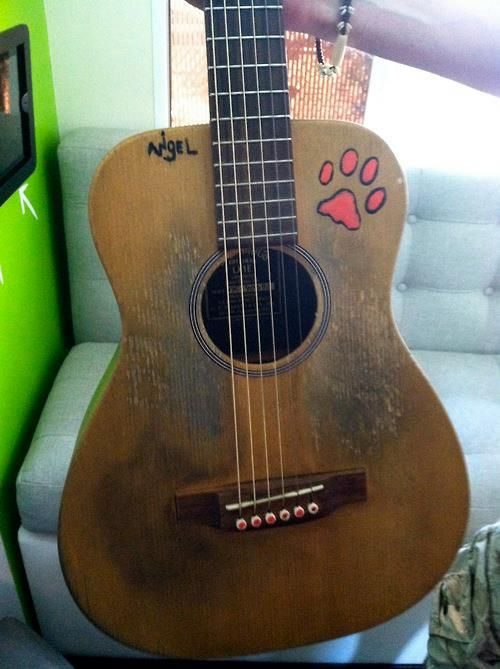 ed's guitar <3 nigel. probs my favorite guitar of ed :)
