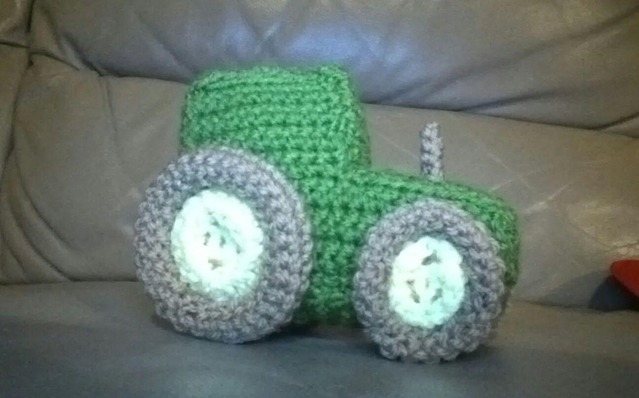 My little crochet tractor...