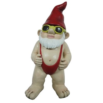 Shop Angelo Decor International Mankini Gnome Statue At Loweu0027s Canada. Find  Our Selection Of Garden Statues At The Lowest Price Guaranteed With Price  Match ...