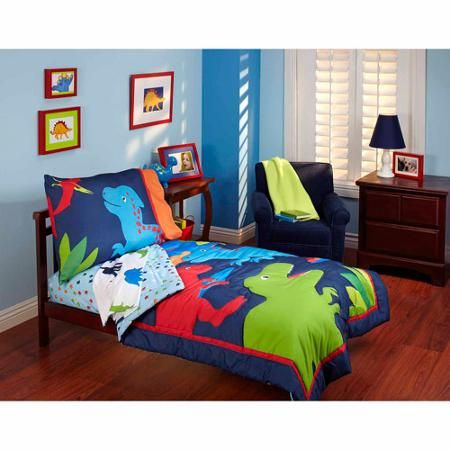 Garanimals Dino Mite 4 Piece Toddler Bedding Set