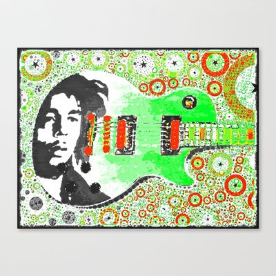 Bob Marley LP Stretched Canvas by ADH Graphic Design - $85.00