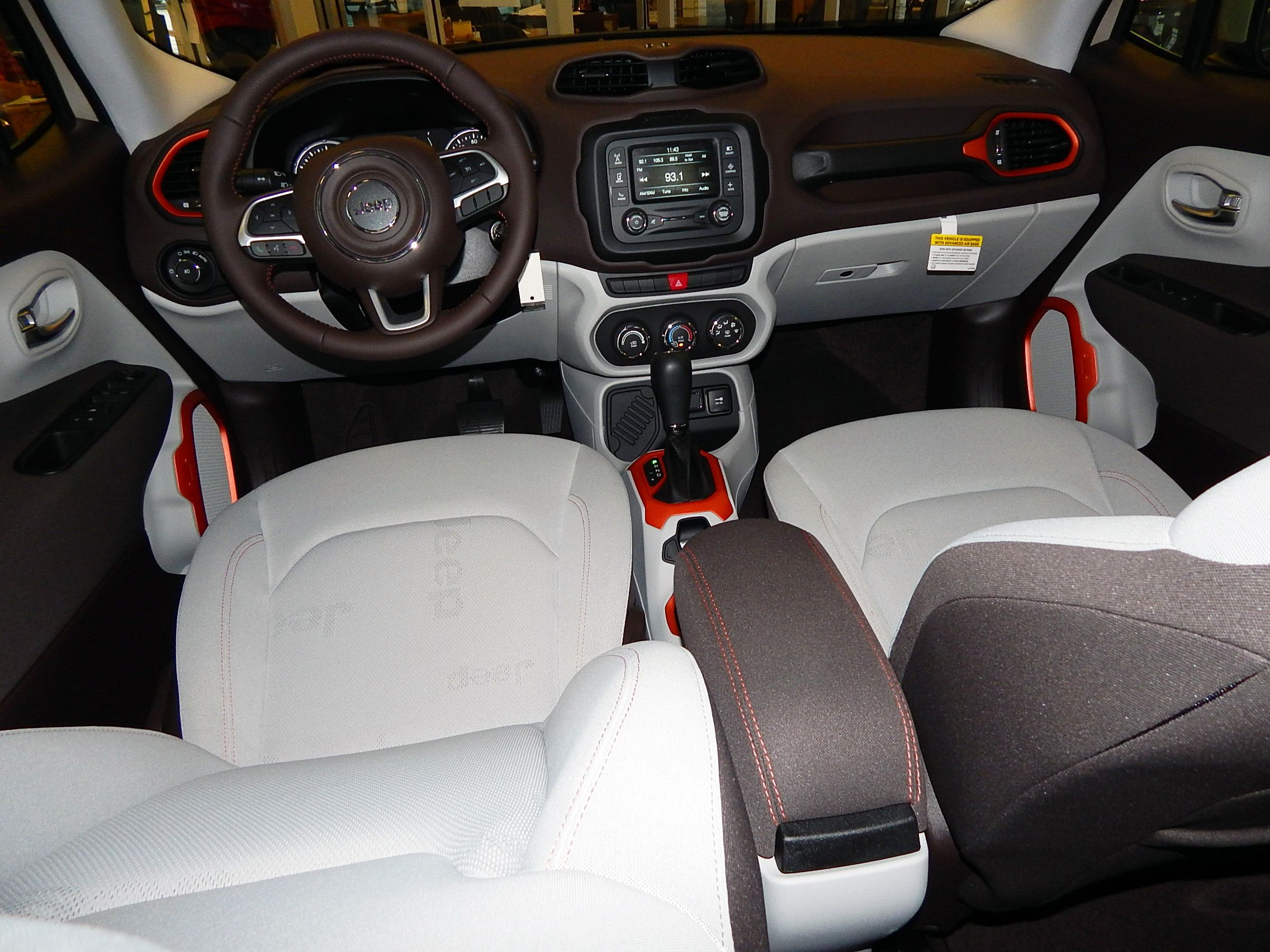 Beautiful interior styling in the 2015 Jeep Renegade Latitude Check