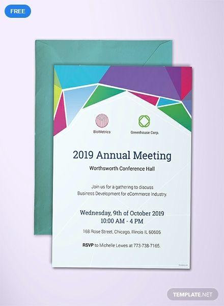 Free Annual Meeting Invitation