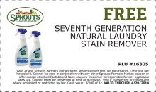 Free Seventh Generation Stain Remover At Sprout S Laundry Stain