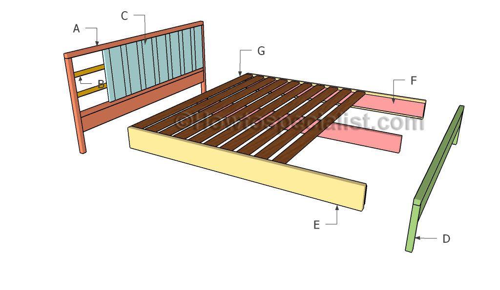 King platform bed plans | Pinterest | King platform bed, Platform ...