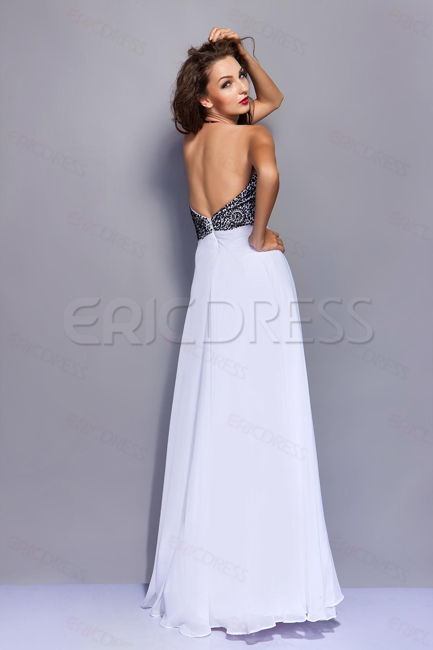 Halter unique elegant aline halter miriamaus evening dress