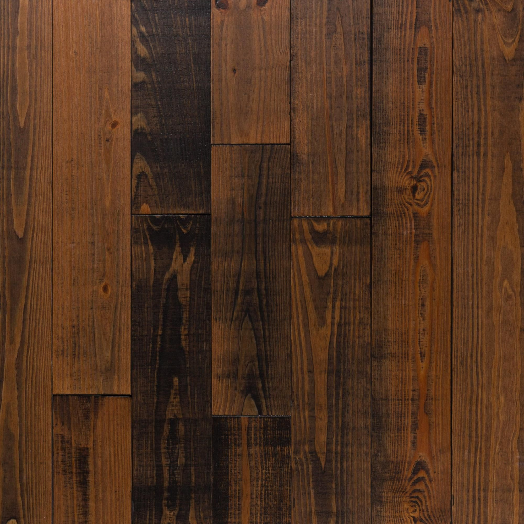Black Sierra Pine Distressed Solid Hardwood Wood Floors Wide Plank Solid Hardwood Floors Solid Hardwood