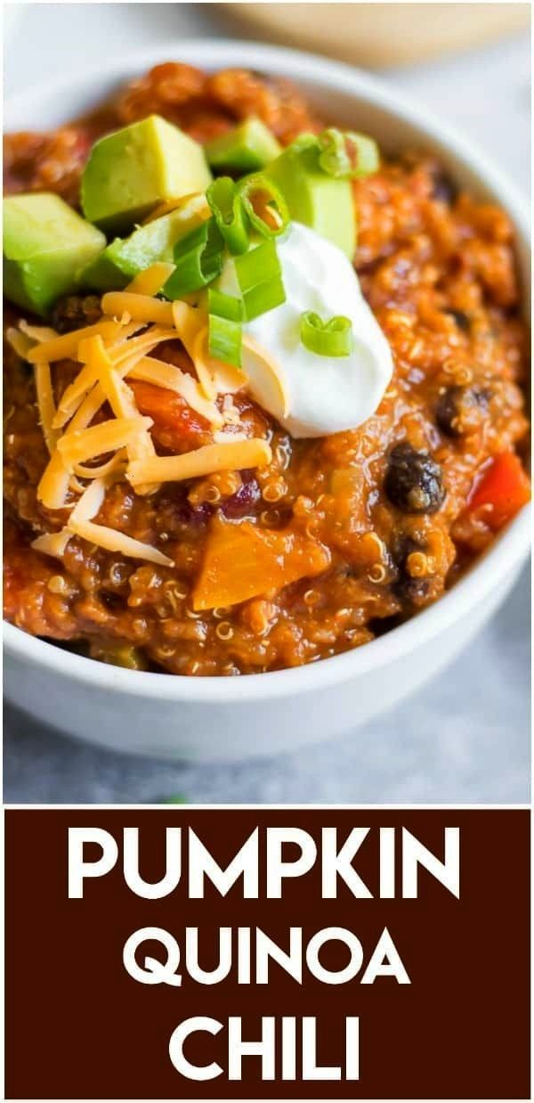 goes well beyond pie and lattesdd it to your chili in this Pumpkin Quinoa Chili So simple and packed with veggies beans and just the right amount of spice A perfect cozy...