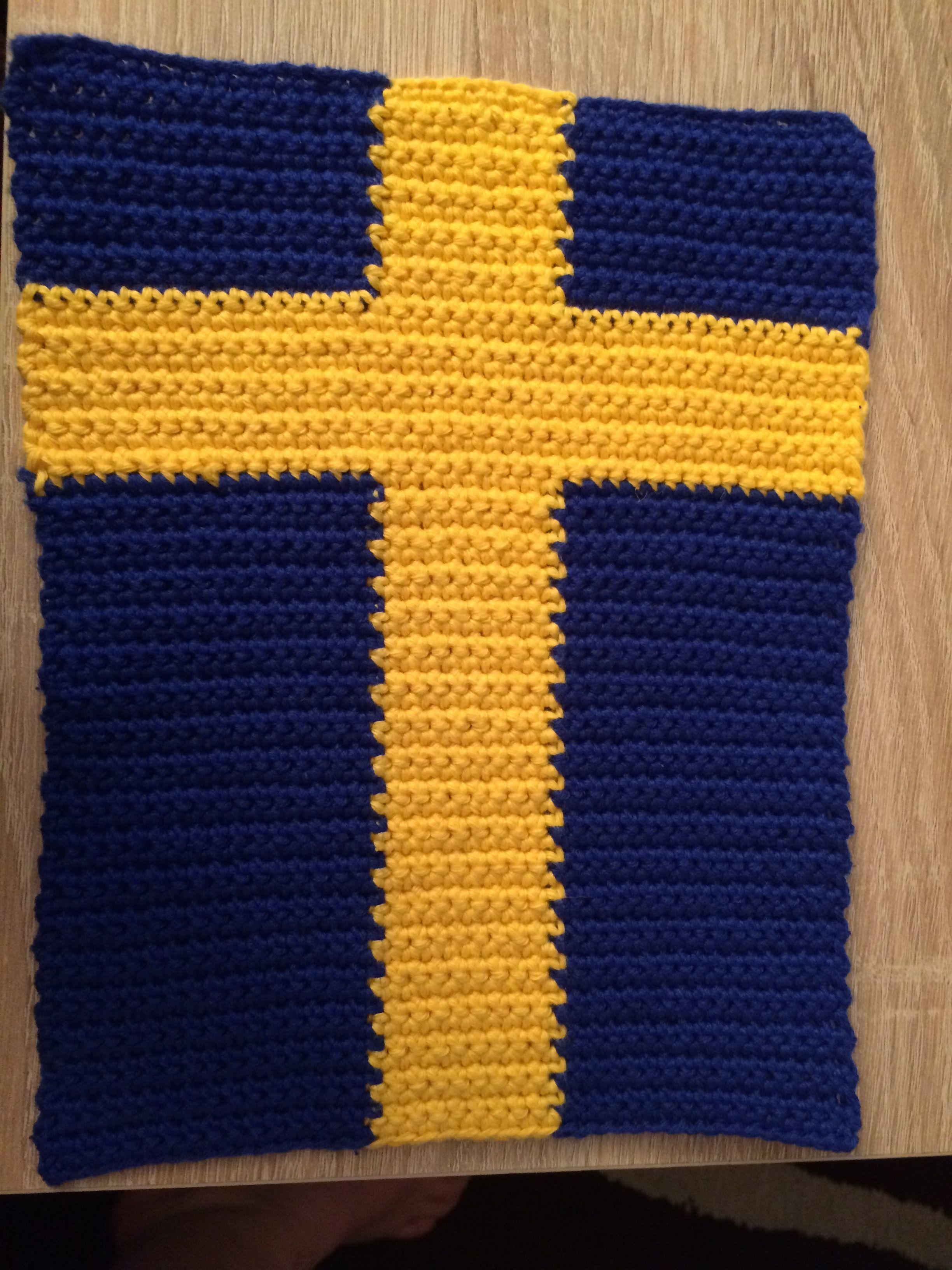 Schweden Fahne   Häkeln   Pinterest   Schweden fahne, Fahnen und ...