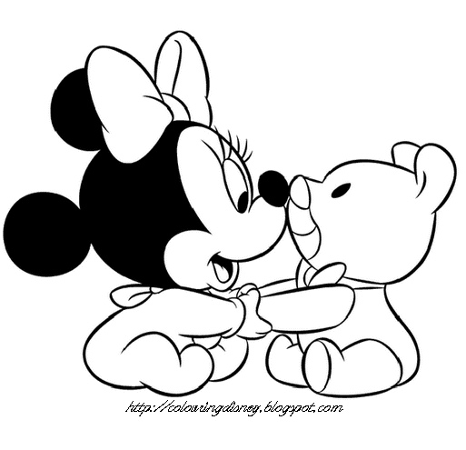 Disney Coloring Pages Coloring Pages Of Baby Mickey Baby Minnie