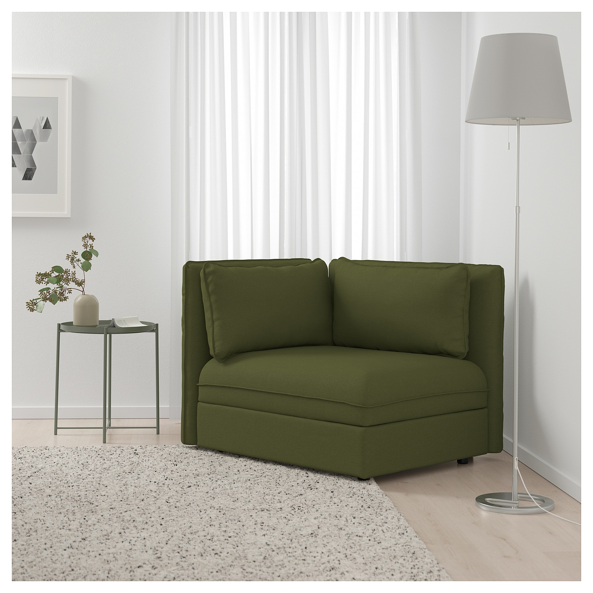 Astounding Ikea Vallentuna Sectional 1 Seat Orrsta Olive Green In Lamtechconsult Wood Chair Design Ideas Lamtechconsultcom