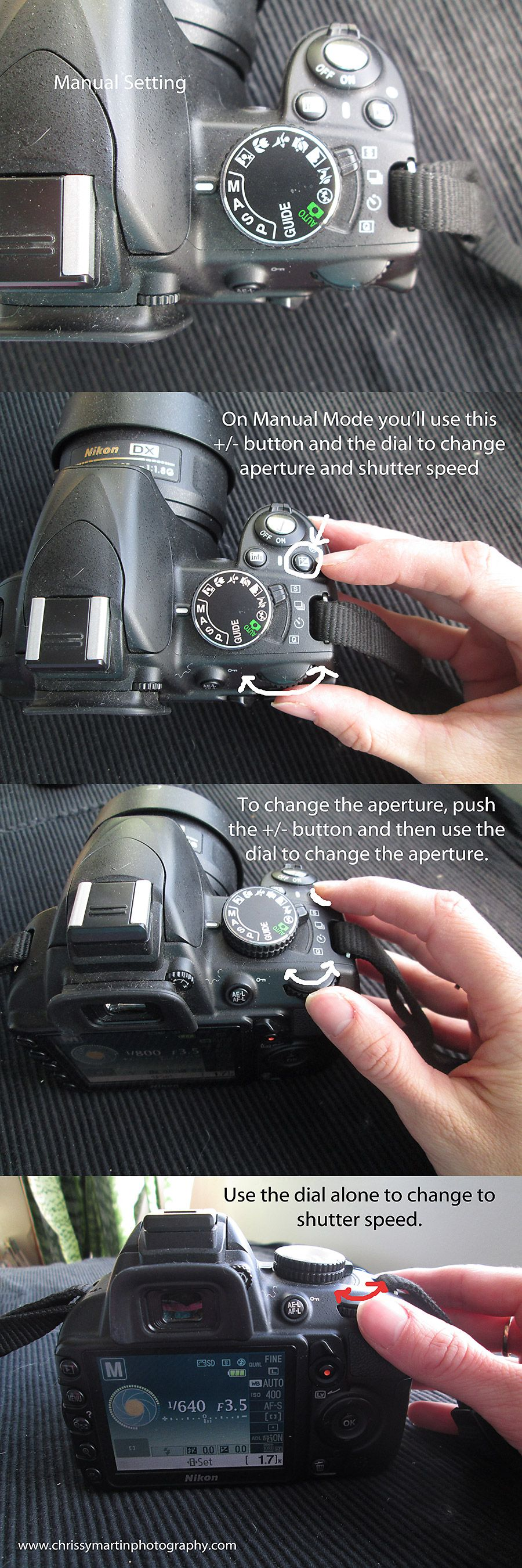 Nikon D3100 How to change the settings in different modes | Chrissy Martin Photography & Nikon D3100: How to change the settings in different modes ... azcodes.com