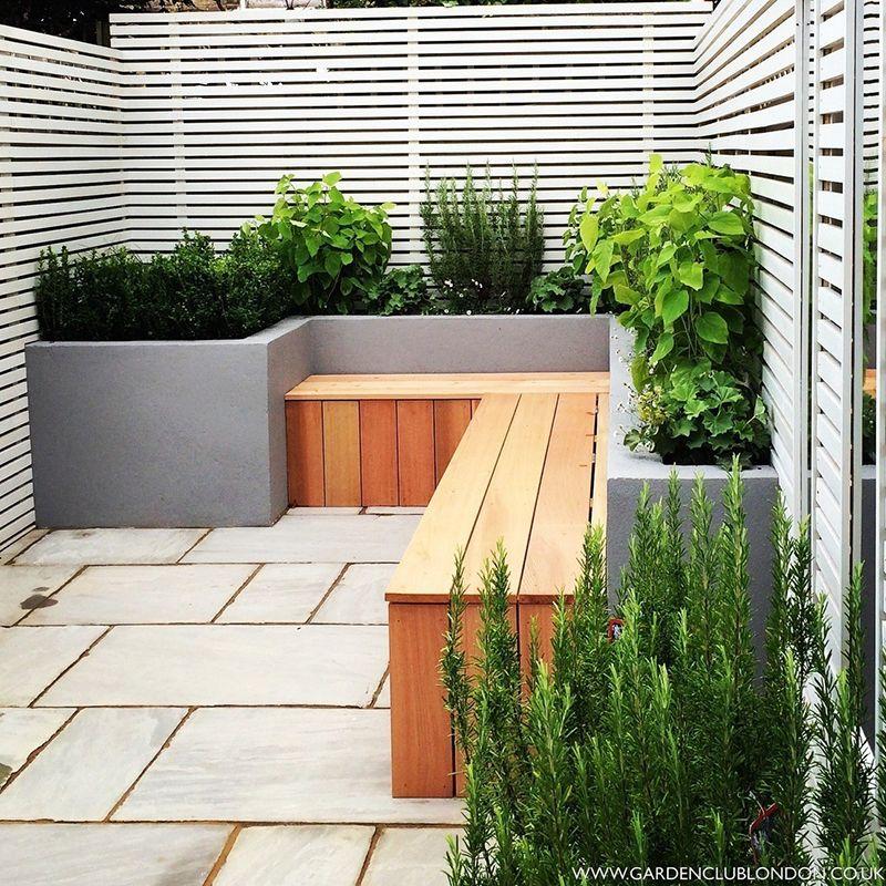 Terrasse Sitzgelegenheit Holz Bauen גינה Moderner Garten