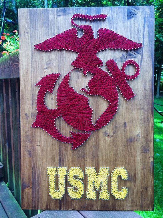 United States Marine Corp String Art, MADE TO ORDER … | Pinteres…
