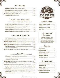 Friendly Cafe Breakfast Lunch Menu With Gourmet Coffee Stamp Coffee Stamps Cafe Menu Menu Design