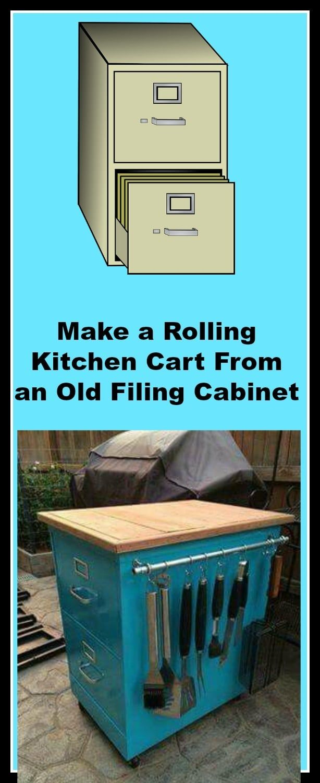 Make a Rolling Kitchen Cart | Recipe | Rolling kitchen cart ...